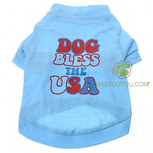 T-shirt pour chien Dog Bless The USA