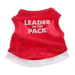 T-shirt pour chien rouge Leader of the Pack