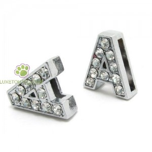 Lettres strass 10 mm pour collier personnalisable !