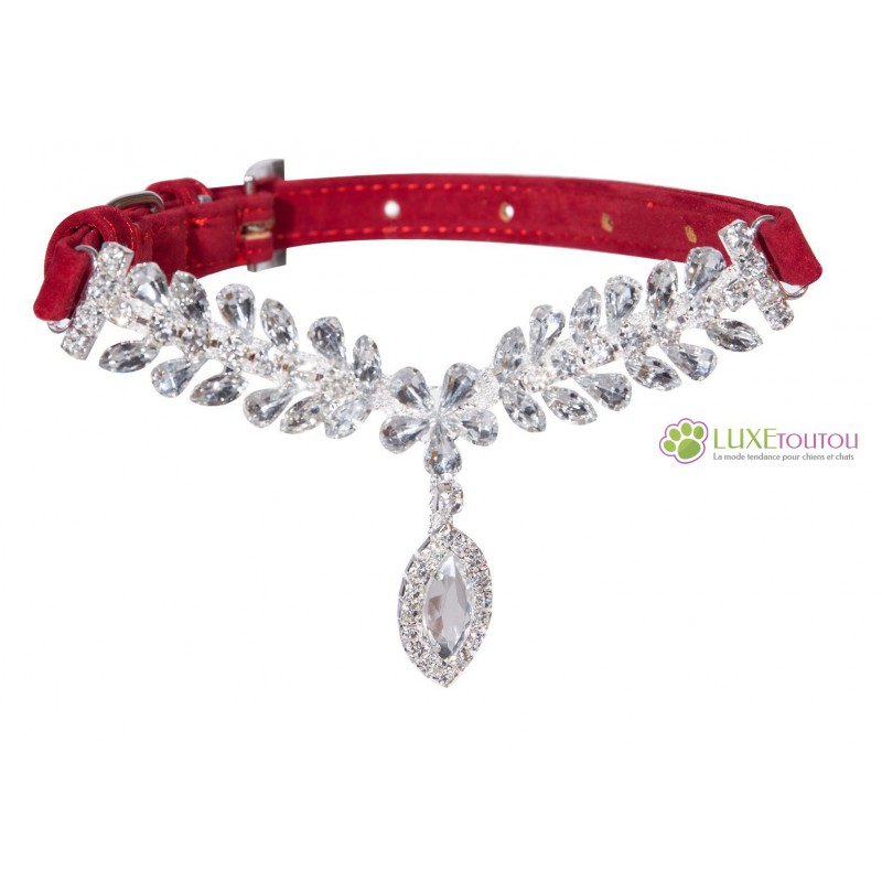 collier pour chat rouge
