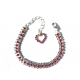 collier chien chainette strass rose